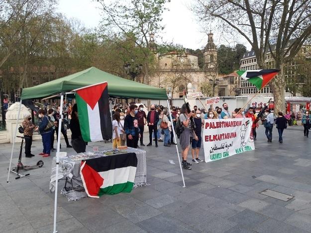 protest in Bilbao ridim